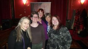 Elizabeth Crowens, Amy Grech, Kathleen Scheiner, Carol Gyzander, and Charie D. LaMarr. Photo by James Chambers.